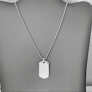 Other - Sterling Silver Dog Tag Necklace, Men's Necklace